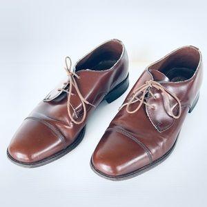 Vintage Slatters Brown Men's Leather Shoes AU 7.5
